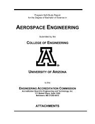 aerospace engineering - Department of Aerospace and Mechanical ...