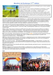 Marathon de Dunkerque 11 édition - Courir à Gravelines