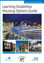 Housing Options - Coventry Partnership Board