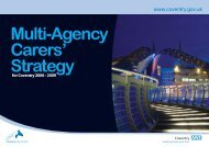 Multi-Agency Carers Strategy - Coventry Partnership Board