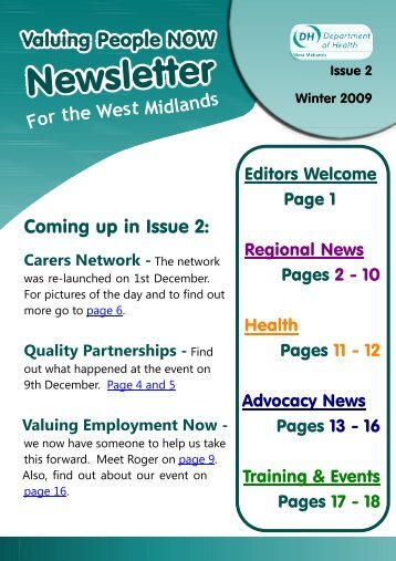 Newsletter Issue 2 - Taking Part