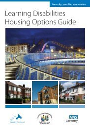 Housing Options Guide - Coventry Partnership Board