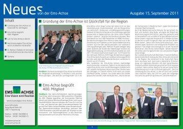 Ausgabe September 2011 - Ems-Achse