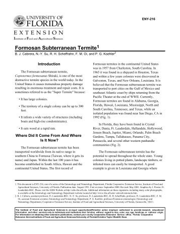 Formosan subterranean termite - Orange County Extension ...