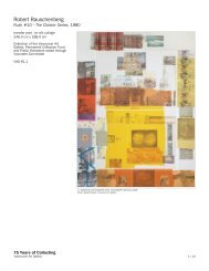 Robert Rauschenberg - 75 Years of Collecting - Vancouver Art Gallery