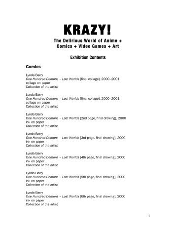 KRAZY! - 75 Years of Collecting - Vancouver Art Gallery