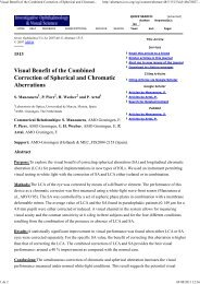 Visual Benefit of the Combined Correction of Spherical and ...