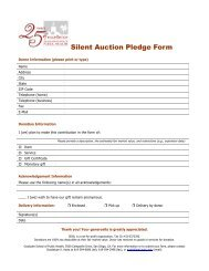 Silent Auction Pledge Form - Graduate School of Public Health - San ...