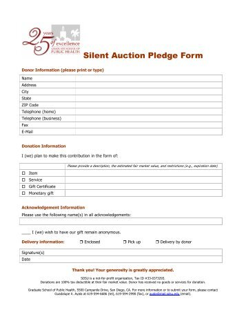 Works Of Mercy Pledge Form