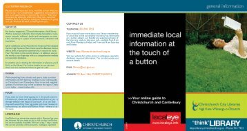 General information - Christchurch City Council