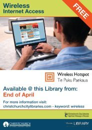 Wireless Internet Access posters - Christchurch City Libraries