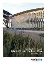 Libraries 2025 Facilities Plan - Christchurch City Libraries