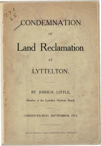 View Condemnation of land reclamation at Lyttelton as PDF