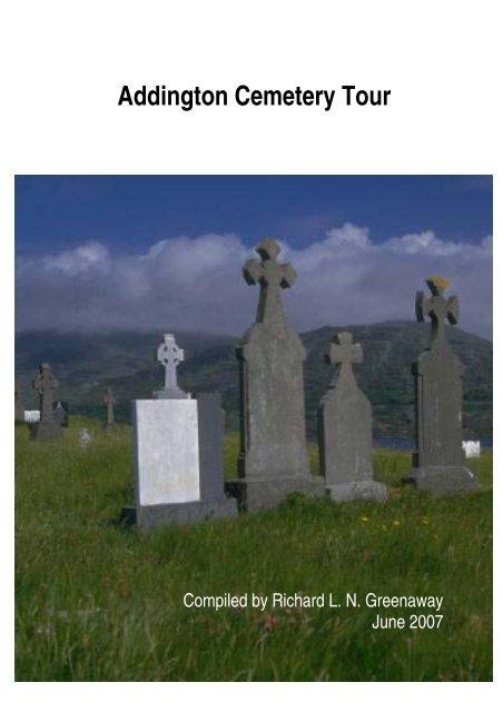 Addington Cemetery Tour Guide - Christchurch City Libraries