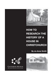 How to research the history of a house in Christchurch