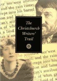 Christchurch Writers' Trail PDF - Christchurch City Libraries
