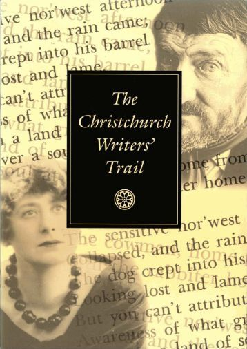 Christchurch Writers' Trail PDF - Christchurch City Libraries