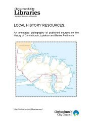 Local History Resources - Christchurch City Libraries
