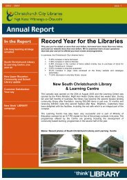 Christchurch City Libraries Annual Report 2003 - 2004