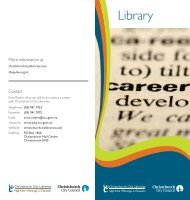 Career - Christchurch City Libraries