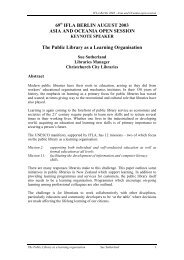 The public library as a learning organisation - Christchurch City ...