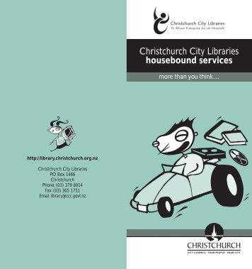 Housebound Services - Christchurch City Libraries