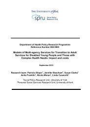 Models of Multi-agency Services for Transition to ... - University of York