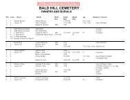 BALD HILL CEMETERY - Freepages