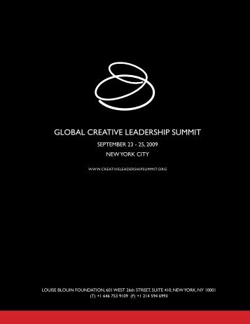GLOBAL CREATIVE LEADERSHIP SUMMIT - Artinfo