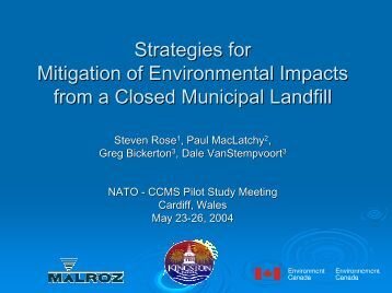 Strategies for Mitigation of Environmental Impacts from a ... - CLU-IN