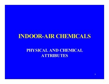 INDOOR-AIR CHEMICALS - CLU-IN