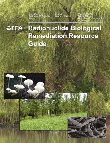 Radionuclide Biological Remediation Resource Guide ... - CLU-IN