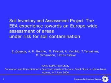 Soil Inventory and Assessment Project: The EEA ... - CLU-IN