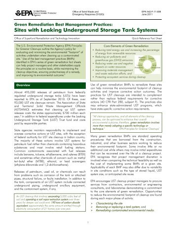 Green Remediation Best Management Practices: Sites with ... - CLU-IN
