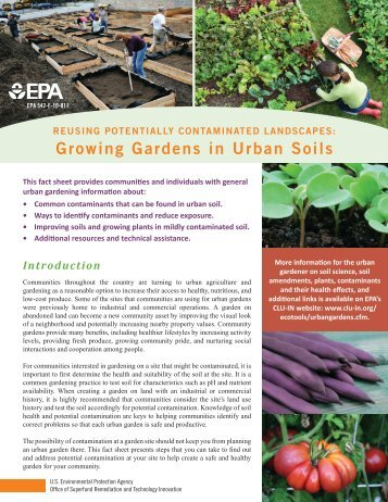 Reusing Potentially Contaminated Landscapes: Growing ... - CLU-IN