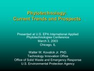 Phytotechnology: Current Trends and Prospects - CLU-IN
