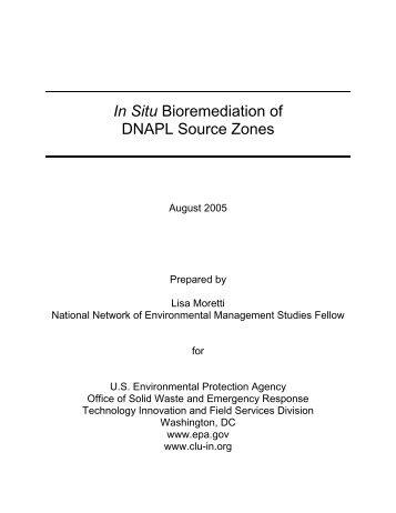 In Situ Bioremediation of DNAPL Source Zones - CLU-IN