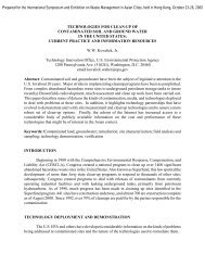 Technologies for Clean-up of Contaminated Soil and ... - CLU-IN