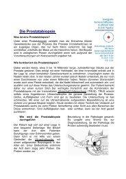 Die Prostatabiopsie