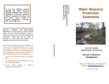 Water Resource Protection Easements - Carroll County Government