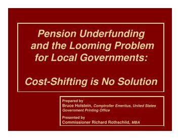Pension Underfunding and the Looming Problem for Local ...