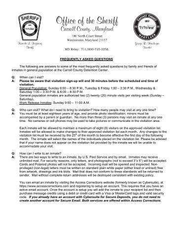 FAQ's - Carroll County Government
