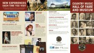 Consumer Brochure - Country Music Hall of Fame and Museum