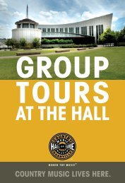 View Group Sales Kit - Country Music Hall of Fame and Museum