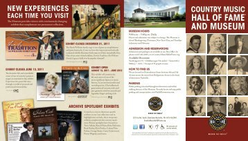HALL OF FAME AND MUSEUM - Country Music Hall of Fame and ...