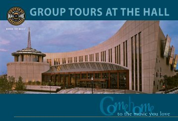 Group Tours aT The hall - Country Music Hall of Fame and Museum