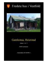 Gamlestua, Heierstad - Kulturarv