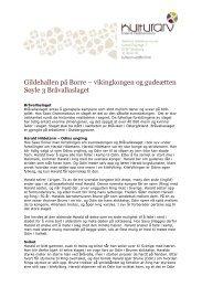 vikingkongen og gudeætten Søyle 3 Bråvallaslaget - Kulturarv