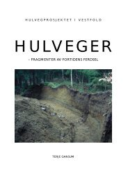 Hulveger - fragmenter av fortidens ferdsel - Kulturarv