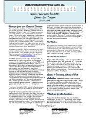 Summer Newsletter 2013 – Region 1 - United Federation of Doll Clubs